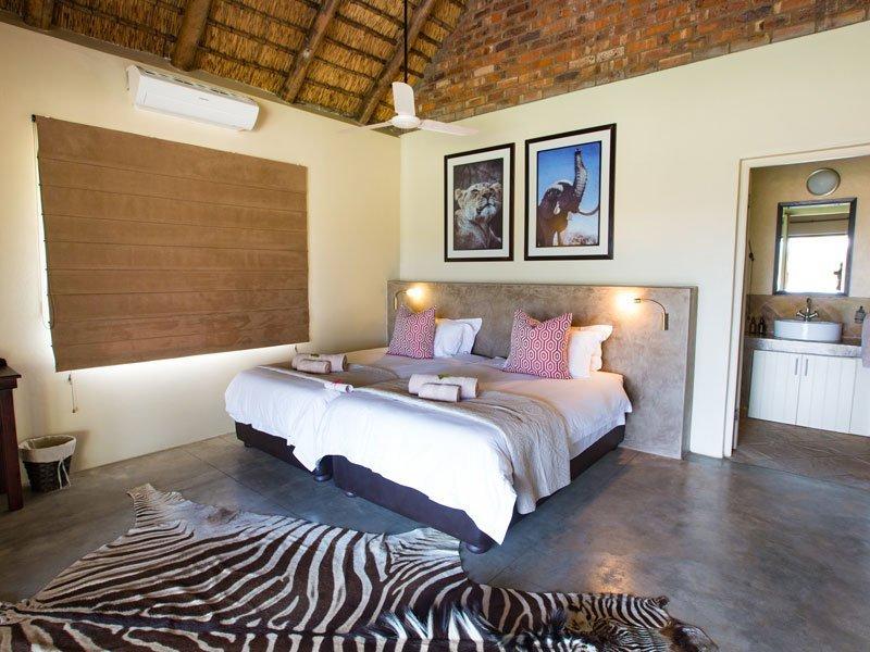 luxury twin chalet bedroom